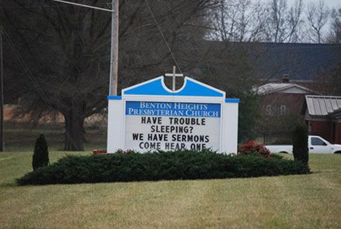 11 Funny Church Signs | Reader's Digest