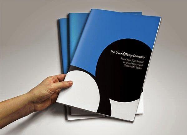 Contoh Desain Gambar Buku Laporan Tahunan - Walt Disney Annual Report oleh Altay Dagistan