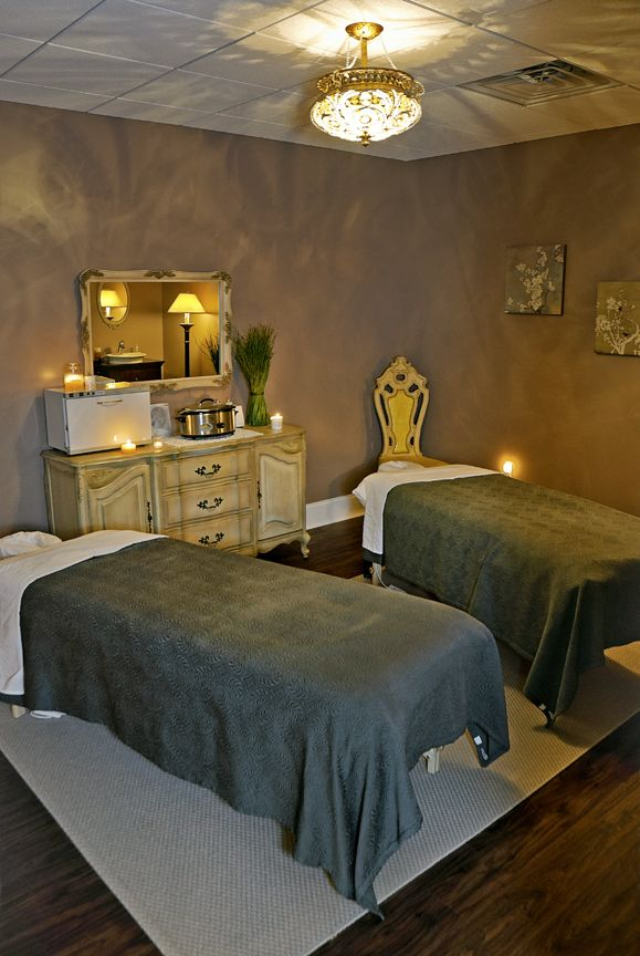 The Couples Massage room in the spa at Plum Salon and Spa in Lancaster, Pa