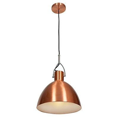 Make a statement with the Essence dome pendant line from Access Lighting. Its canopy and shade are both finished in a rich, shining copper.