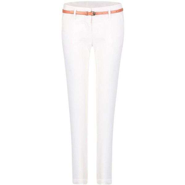 Yoins Skinny Pants (66 PEN) ❤ liked on Polyvore featuring pants, jeans, yoins, white, white skinny trousers, slim fit pants, white trousers, skinny trousers and white pants