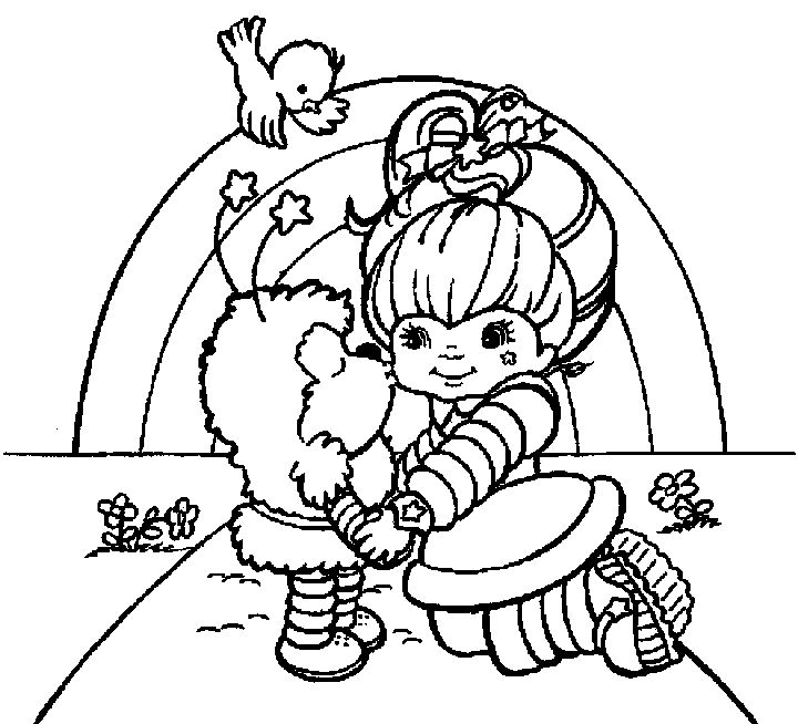 printable coloring pages rainbow bright