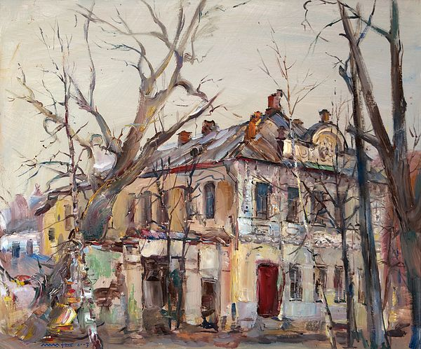 #NikolayMalafeev #canvasprint #print #buypainting #buyart #cityscapes #officedecor #homedecor #trees #street #sky #building #branch