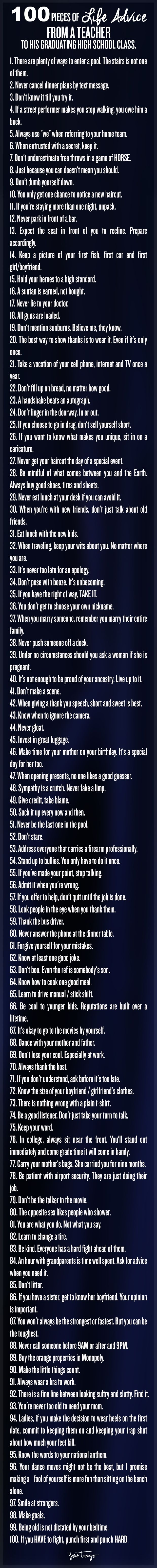 100 Pieces Of Life Advice Everyone Needs To Know (no Matter Your Age)