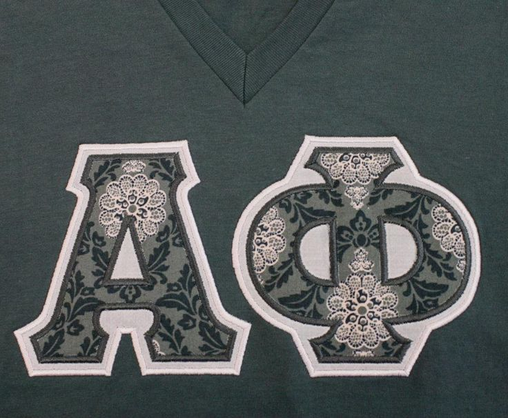 Stitched Greek Letter Hoodies