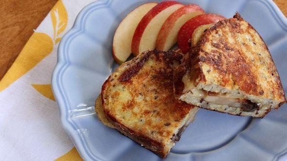 Apple, Cheddar and Mushroom Monte Cristos