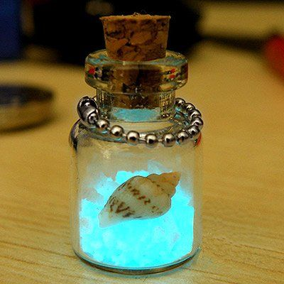 mini bottle charms | Fluorescent Wishing Sand Bottle Phone Bag Strap Charm Free Shipping ...