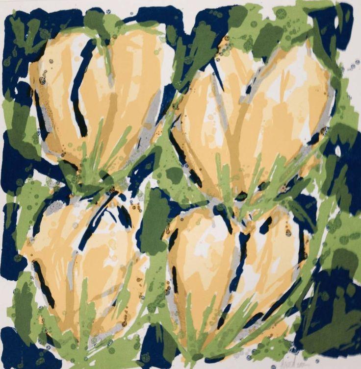 Ad van Hassel | Gele tulpen http://www.julesverne-art.nl/ad-van-hassel-gele-tulpen-6503399.html Prachtig ingelijste zeefdruk van Ad van Hassel.