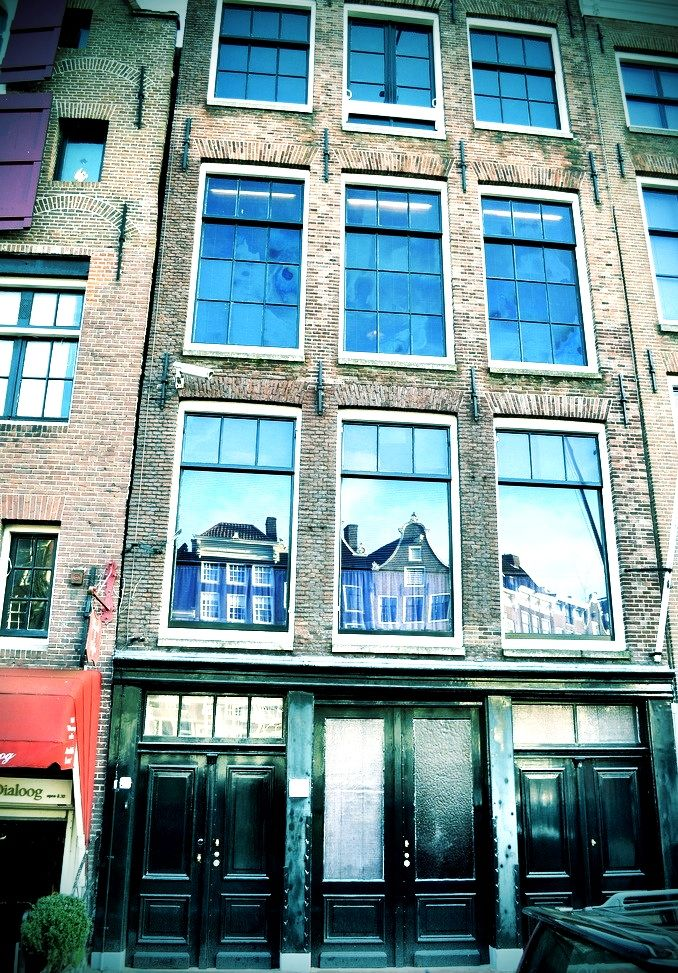 Reflection at the Anne Frank House, Amsterdam