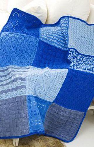 Ravelry: Knit Sampler Afghan pattern by Red Heart Design Team