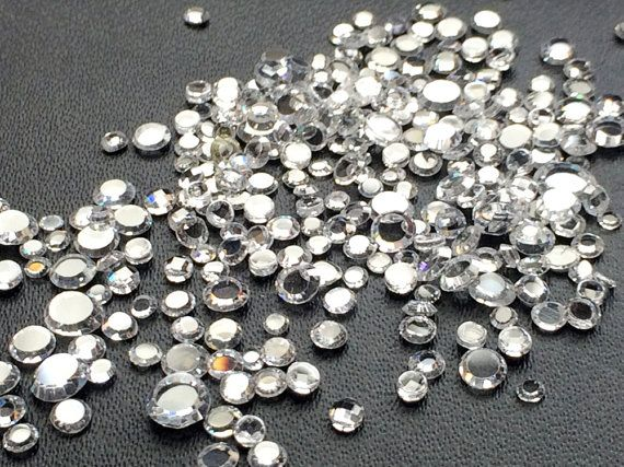 100 Pcs Zirconia CZ Flat Back Zirconia 2-4mm by gemsforjewels