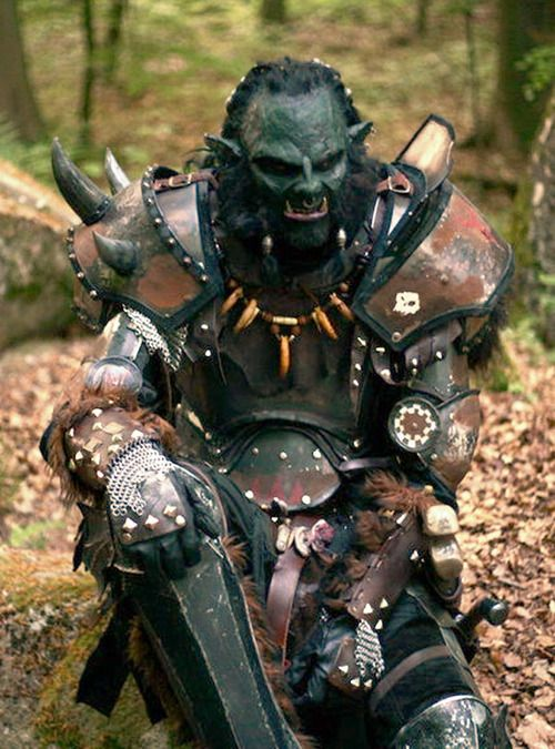 Not quite cosplay, but this costume was too good to not repin. LARP costumeOrc Male LARP Costume » LARP costume