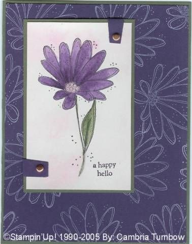 LOVE Shimmery!! using Stampin' Up! In Full Bloom