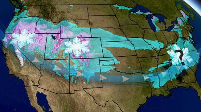 Meteorologist Ari Sarsalari says areas that have already seen snow will get more, as Helena moves across the U.S.
