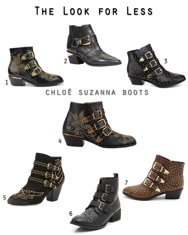 Get the Chloe Suzanna studded ankle boot look for less with 6 options under $130 on Fashion Trend Guide