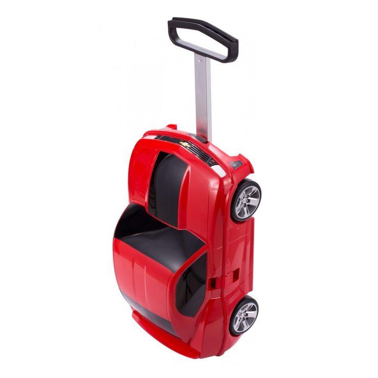 """For Kids - Kinderkoffer Rennauto (Chevrolet Camaro) Hartschale Rot glänzend, 49 cm, 18 Liter; Roter #Rollkoffer aus der Serie """"For Kids"""" von #Hauptstadtkoffer.  #Hartschalenkoffer #Kinderkoffer #Rennauto #Chevrolet #Camaro #Rot #Rollkoffer #Trolley #Koffer #Travel #Luggage #Reisen #Urlaub #red #rouge => mehr Rote Koffer: https://hauptstadtkoffer.de/de/catalogsearch/result/index/?color=26&limit=90&q=Rot"""