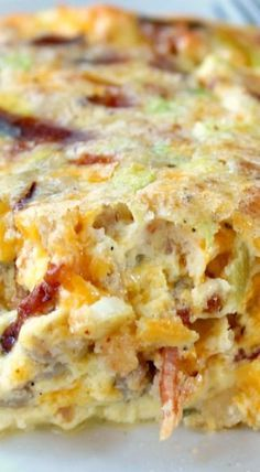 Southwest Egg Bake!! Has sausage, bacon, cheese and green chilies....a wonderful brunch dish
