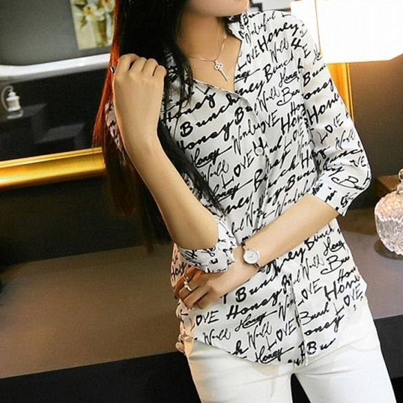 Pattern: 1_zebra pattern, 2_English letters pattern  Material: Chiffon  Sleeve Style: 3/4 Sleeve  4 Sizes available:   Asian S (US S(2) ,UK 2, AU 4)  Asian M (US S(4) ,UK 6, AU 8)  Asian L (US M(8-10),UK 10, AU 12)  Asian XL (US L(12),UK 14, AU 16)  Size: There are Four sizes (S, M, L and XL) available for the following listing. please allow 1-2cm differs due to manual measurement, thanks (All measurement in cm and please note 1cm=0.39inch)         Asian      Size        US       Size…