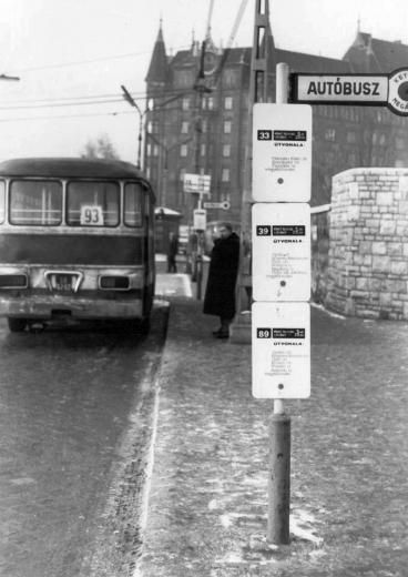 Budapest in the 60's , VIII. Nagyvárad tér, buszvégállomás, szemben az Üllői út 121.