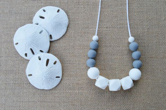 Trendy Teething Necklace for Mom-Nursing Necklace/New Mom Gift $18.50 by SweetPeaandMeBeads