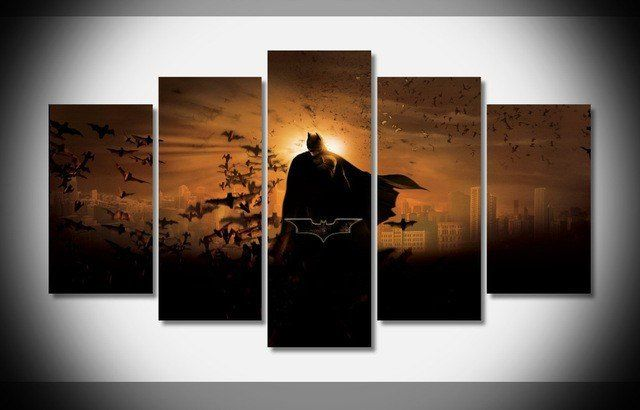 Style Your Home Today With This Amazing 5 Panel Framed Batman Wall Art Canvas For $114.00  Discover more canvas selection here http://www.octotreasures.com  If you want to create a customized canvas by printing your own pictures or photos, please contact us.