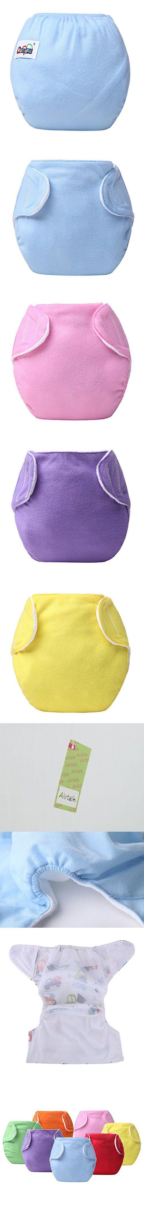 Aivtalk 7Pcs Baby Boys Girls Toddler Toilet Pee Potty Training Pants Newborn Diapers Cloth Diaper