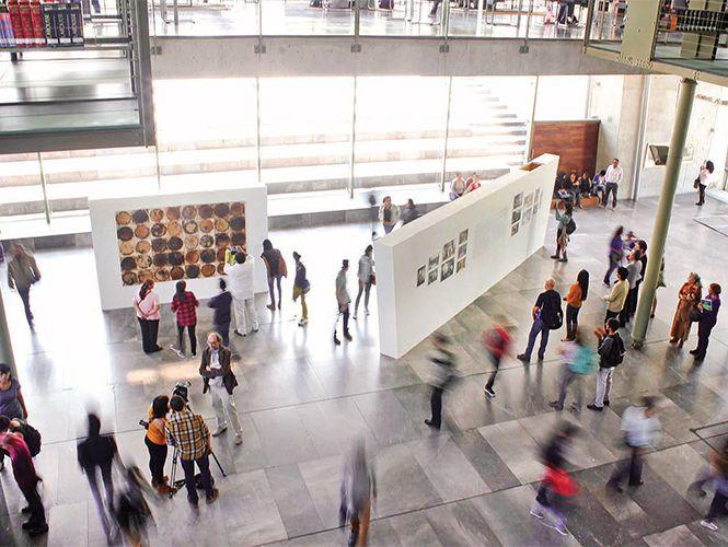 Maestros y alumnos de artes visuales exponen en la Biblioteca Vasconcelos