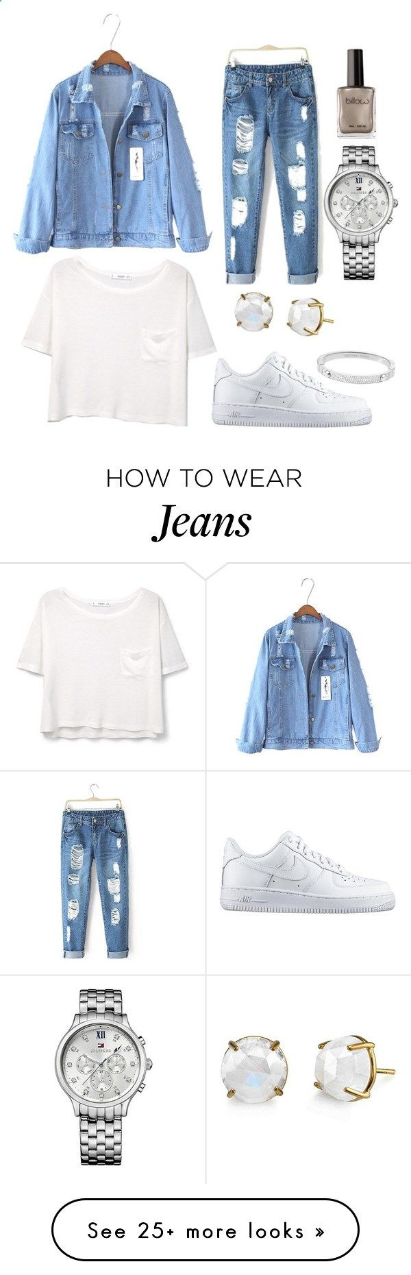 Jeans by frederiquecuyk on Polyvore featuring MANGO, Michael Kors, NIKE, Tommy Hilfiger, womens clothing, women, female, woman, misses and juniors