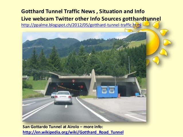 Various information resources on the Gotthard Tunnel Traffic Jam Situation