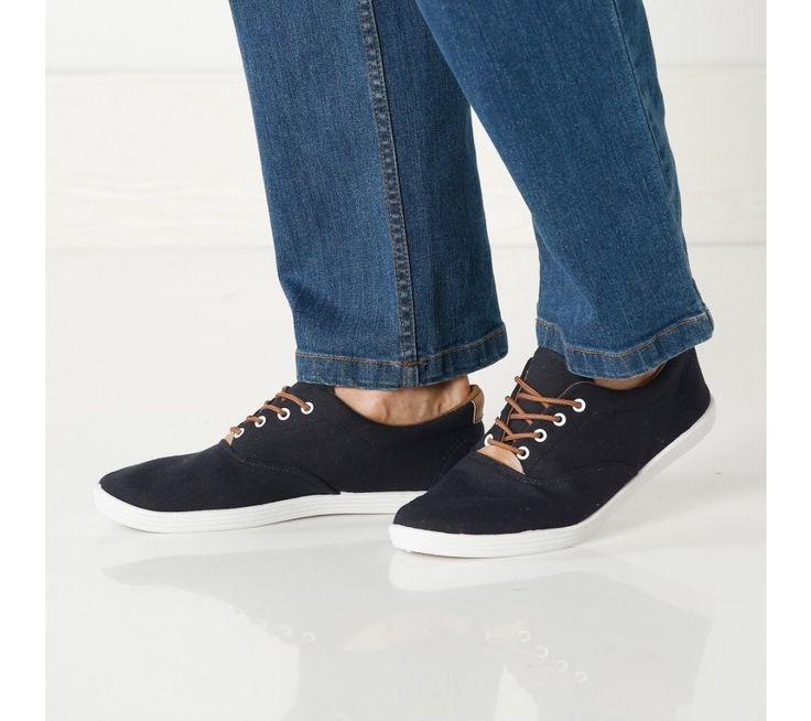 Plátěné sneakersy s tkaničkami | blancheporte.cz #blancheporte #blancheporteCZ #blancheporte_cz #panskamoda