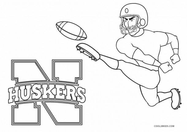Nebraska Football Coloring Pages