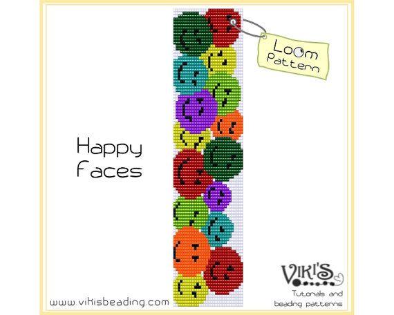 Loom Bracelet Pattern  Happy Faces