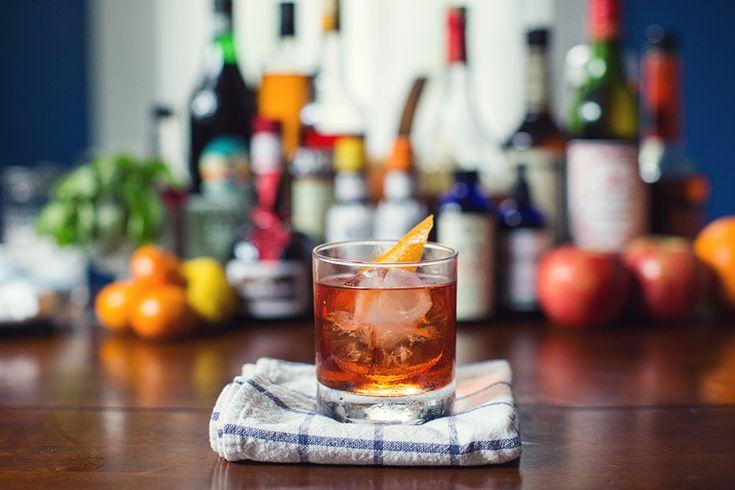 vieux carre  1 oz bourbon – we used Temptation 1 oz cognac  1/2 oz sweet vermouth  1/4 orange curaçao 2 dash Peychaud's