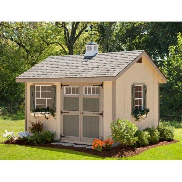 Ez Fit Heritage 10x14 Wood Shed Kit Ez Heritage1014 Backyard Sheds Diy Shed Plans Building A Shed