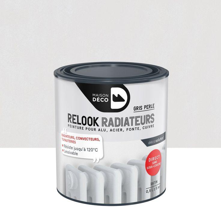 Peinture Relook radiateurs MAISON DECO gris perle satin 0.5 l