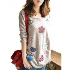 this sweater is so lovely because its heart print