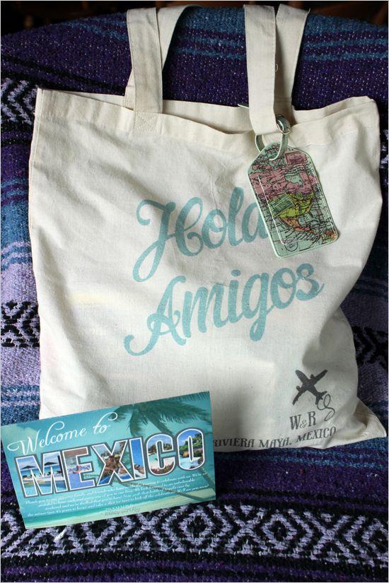 Destination Wedding Gift Bag Ideas: Hola Amigo Tote