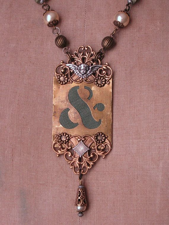 85 best ampersand images on pinterest bricolage for Repurposed vintage jewelry designers
