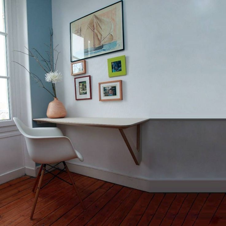 bureau 39 suspendu 39 sur mesure bureaux sur mesure pinterest. Black Bedroom Furniture Sets. Home Design Ideas