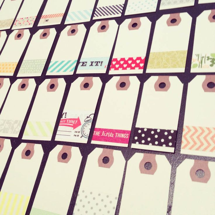 Washi Tape on tags