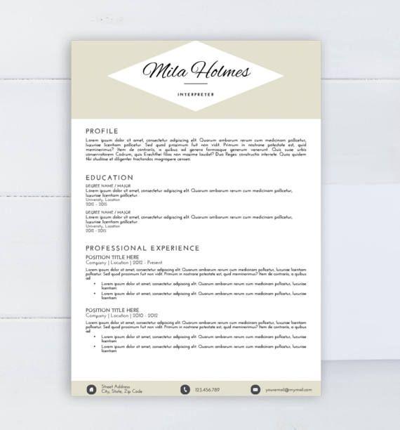 Creative resume template CV template Word template by AAAResume