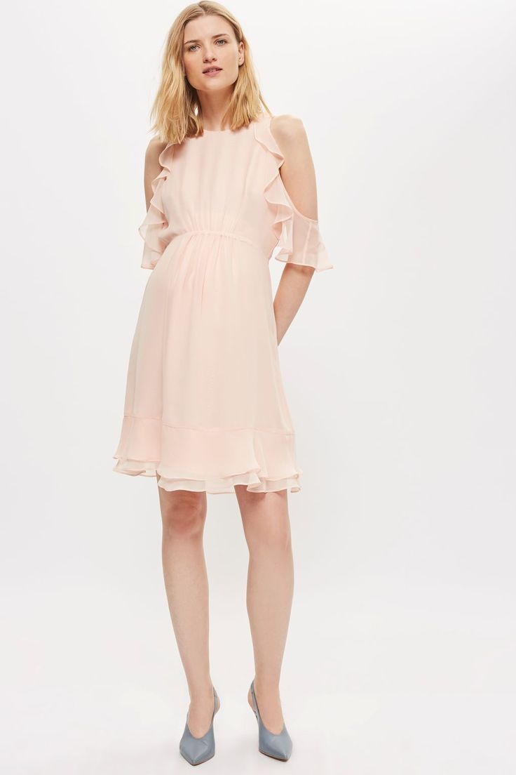 2967 best style maternity images on pinterest maternity maternity ruffle cold shoulder dress topshop ombrellifo Gallery