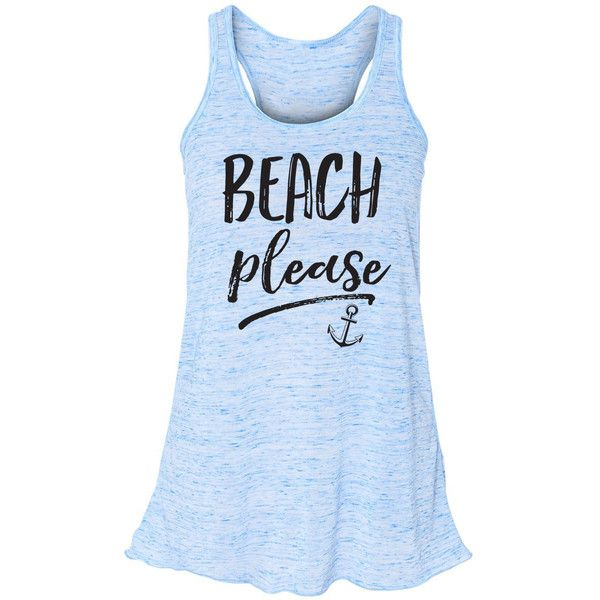 Beach Please Flowy Tank Top Mermaid Shirt Mermaid Summer Tank Beach... ($23) ❤ liked on Polyvore featuring tops, blue, t-shirts, women's clothing, blue shirt, striped tank top, blue stripe shirt, summer tanks and beach shirts