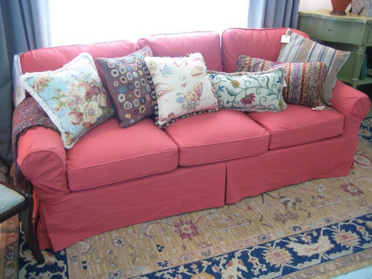 decorative pillows for couches with red sofa
