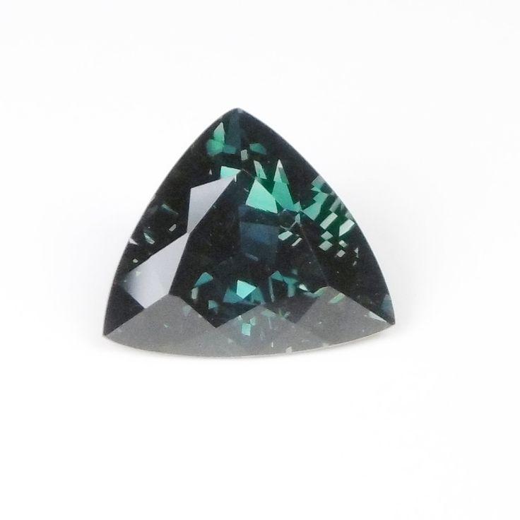 Blue/Green (Teal) Sapphire 3.64ct 10.0x9.3x5.5 Trillion Heated