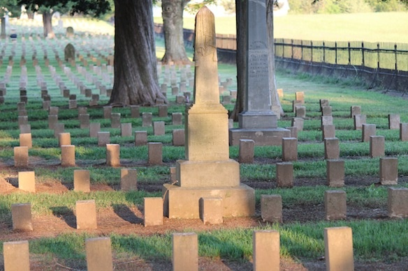 McGavock Confederate Cemetery in Franklin Tennessee near Nashville