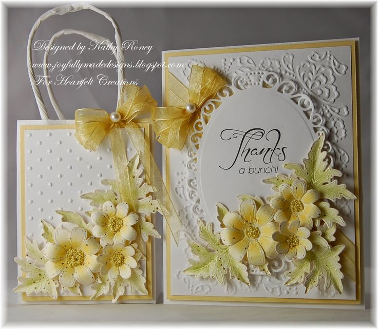 Yellow Daisies Gift Set - Heartfelt Creations - Card and mini gift bag using Delightful Daisies Stamps & matching die with yellows