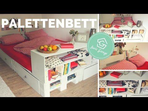 Palettenbett Selber Bauen   Bett Aus Europaletten DIY   Palettenmöbel |  Anleitung   YouTube