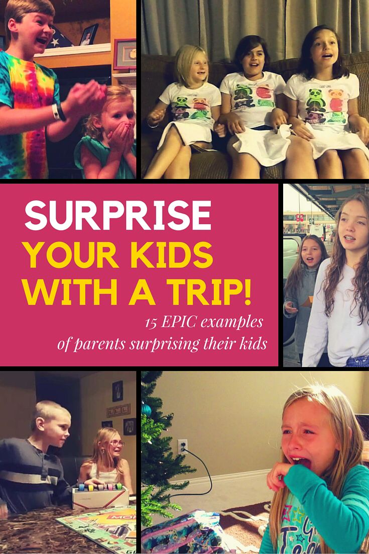 Have you ever wanted to surprise your kids with a trip? Maybe to Walt Disney World? Or Hawaii? Here are 15 examples of parents who pulled off epic trip surprises!