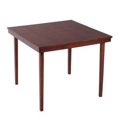 cosco wood folding table espresso dont have room in my new place for my old dining set but. Black Bedroom Furniture Sets. Home Design Ideas